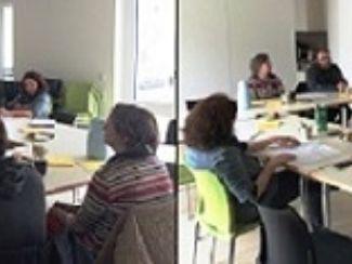Frau Ingrid Badura und Gruppe STARK planen gemeinsam
