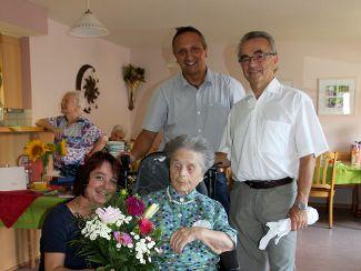 Gratulation zum 102. Geburtstag