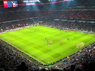 Wir in der Allianz Arena