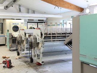Alte Mangelstraße in der Wäscherei wird ersetzt